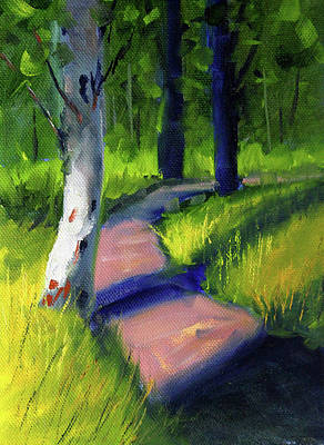 Painting - Sunny Path by Nancy Merkle