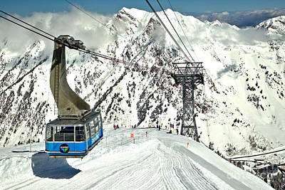 Photograph - Sunny Skies Over The Blue Snowbird Tram by Adam Jewell