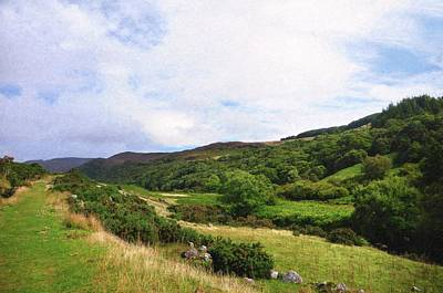 Photograph - Sunny Valley Between Wicklow Hills by Jenny Rainbow