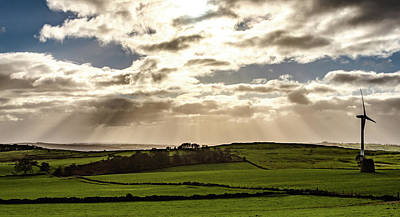 Photograph - Sunrays Over Derbyshire by Scott Lyons