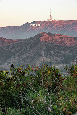 Photograph - Sunris At The Hollywood Sign  by John McGraw