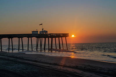 Photograph - Sunrise - 14th Street Pier At Ocean City New Jersey by Bill Cannon