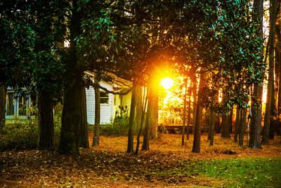 Photograph - Sunrise At A Farm House by John Harding