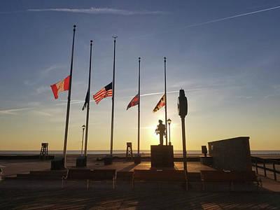 Photograph - Sunrise At Firefighter Memorial by Robert Banach