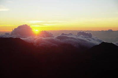 Photograph - Sunrise At Haleakala by Marie Leslie