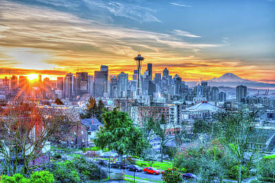 Photograph - Sunrise At Kerry Park by Spencer McDonald