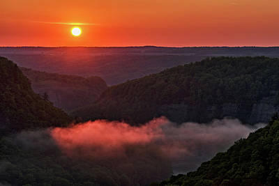 Photograph - Sunrise At Letchworth State Park In New York by Jim Vallee