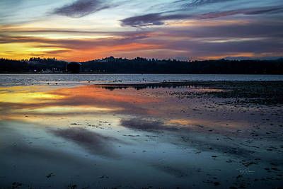 Photograph - Sunrise At Low Tide by Bill Posner