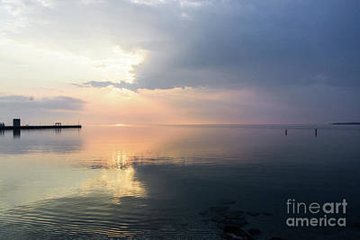 Photograph - Sunrise At Mackinaw City by Randy J Heath