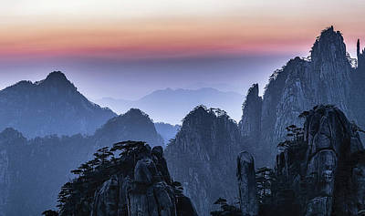 Photograph - Sunrise At Mt.huangshan by Usha Peddamatham