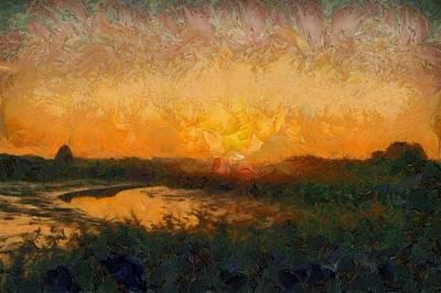 Target Threshold Nature - Sunrise at river Roding by Gareth Parkes