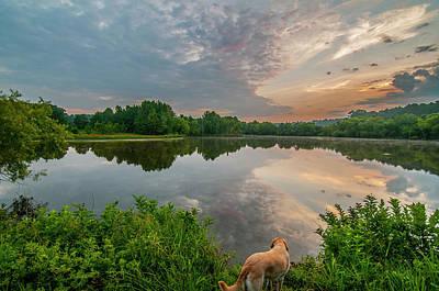 Sunrise At Ross Pond Art Print