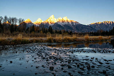 Photograph - Sunrise At Schwabacher Landing by Scott Read