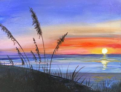 Wall Art - Painting - Sunrise At The Beach by Elisa Gabrielli