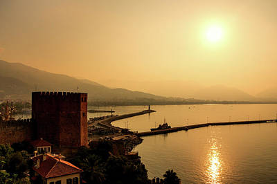Comedian Drawings Rights Managed Images - Sunrise at the harbor of Alanya Royalty-Free Image by Sun Travels