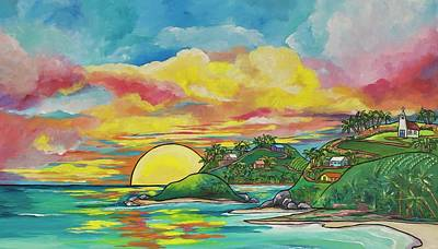 Painting - Sunrise At The Islands by Patti Schermerhorn