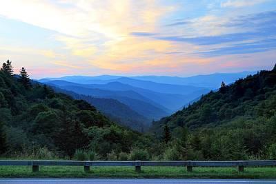 Photograph - Sunrise At The Oconaluftee Valley Overlook by Carol Montoya