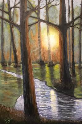 Painting - Sunrise Creek II by Dan Wagner