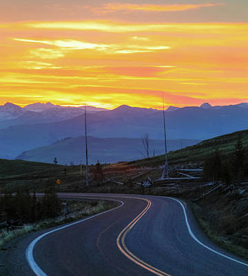 Photograph - Sunrise Drive In Yellowstone by Dan Sproul