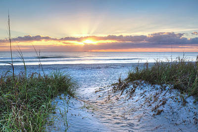 Photograph - Sunrise Glow In The Sand Dunes by Debra and Dave Vanderlaan