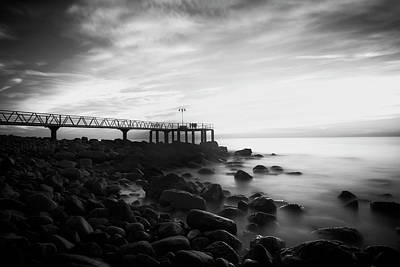 Photograph - Sunrise In Black And White by Vicen Photography