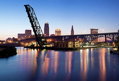 Ohio Photograph - Sunrise In Cleveland by Henryk Sadura