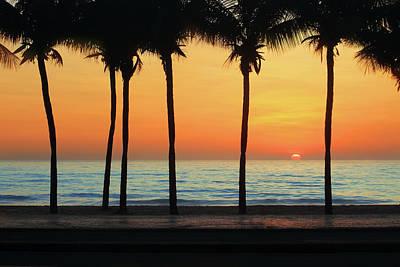 Photograph - Sunrise In Copacabana Beach by Luoman