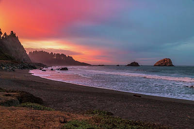 Photograph - Sunrise In False Klamath Cove by Peter Tellone