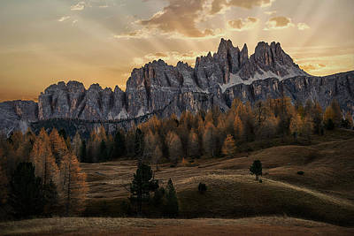 Photograph - Sunrise In The Dolomites by Jon Glaser