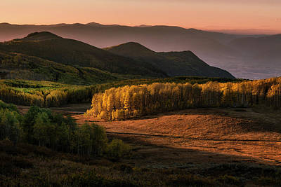 Photograph - Sunrise In The Fall Mountains Of Utah by Michael Ash