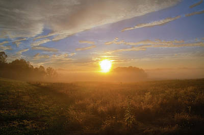 Photograph - Sunrise In The Field - Valley Forge Pa by Bill Cannon