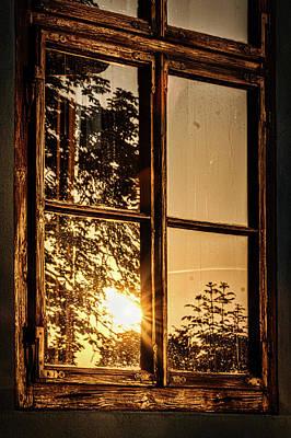 Photograph - Sunrise In The Window - Romania by Stuart Litoff