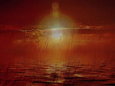 Mixed Media - Sunrise On The Coast by Clive Littin