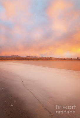 Photograph - Sunrise On A Frozen Lake by Ronda Kimbrow