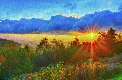 Photograph - Sunrise On Mount Mitchell Digital Painting by Alex Grichenko
