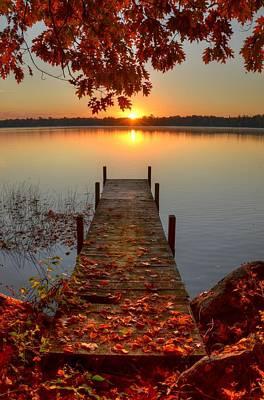 Photograph - Sunrise On Pelican Lake by Sherry Slabik