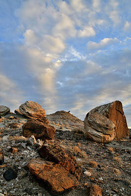 Photograph - Sunrise On Ruby Mountain Boulder Field by Ray Mathis
