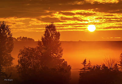 Photograph - Sunrise On The Canadian Prairies by Philip Rispin