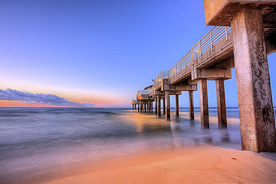 Photograph - Sunrise On The Four Seasons Pier by JC Findley