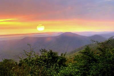 Karnataka Photograph - Sunrise On The Mountains by Srinivas G