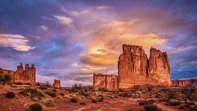 Photograph - Sunrise On The Organ, Tower Of Babel And The Three Gossips by Brenda Jacobs