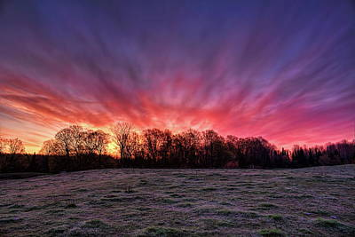 Photograph - Sunrise Over A Frosted Pasture by Dale Kauzlaric