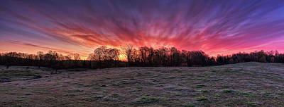 Photograph - Sunrise Over A Frosted Pasture Panorama by Dale Kauzlaric