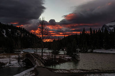 Photograph - Sunrise Over Cascade Ponds, Banff National Park, Alberta, Canada by David Butler