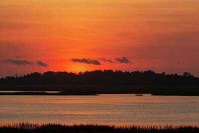 Photograph - Sunrise Over Drunken Jack Island by D K Wall