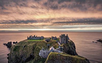 Castle Ruins Wall Art - Photograph - Sunrise Over Dunnottar by Dave Bowman
