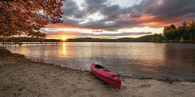 Photograph - Sunrise Over Keoka Lake Fall by Darylann Leonard Photography