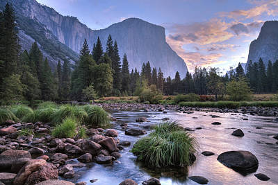 Photograph - Sunrise Over Merced River With El by Danita Delimont