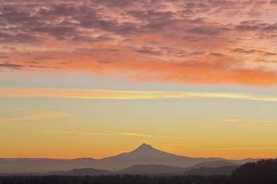 Sunrise Over Mount Hood From Mount Tabor Art Print by Design Pics / Dan Sherwood