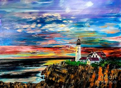Painting - Sunrise Over Portland Head by Francois Lamothe